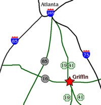 Location of Hollberg Properties in Griffin, GA